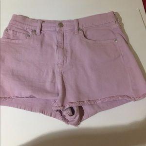 Victoria's Secret pink denim  short shorts sz 10